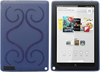 iShoppingdeals - for Barnes & Noble Nook HD+ 9-INCH (BNTV600) TPU Rubber Shell Skin Cover Case, Blue