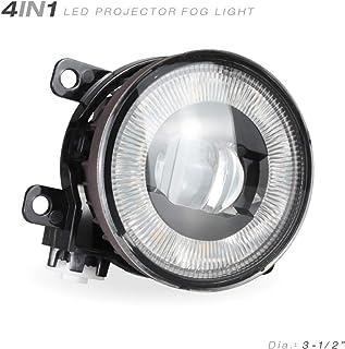 iCAR DIY 4in1 Upgrade Universal LED Projector Fog Light Kit for FORD, HONDA, ACURA, SUBARU, NISSAN, TOYOTA, SUZUKI, MITSUB...