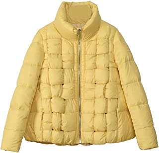 CWSY Women's Fashion Lightweight Down Jacket, Short Loose White Duck Down Jacket