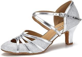Closed Toe Ballroom Dance Shoes Women Latin Salsa Social Wedding Indoor Dancing Shoes 2.5in,1.5in Heels YT09
