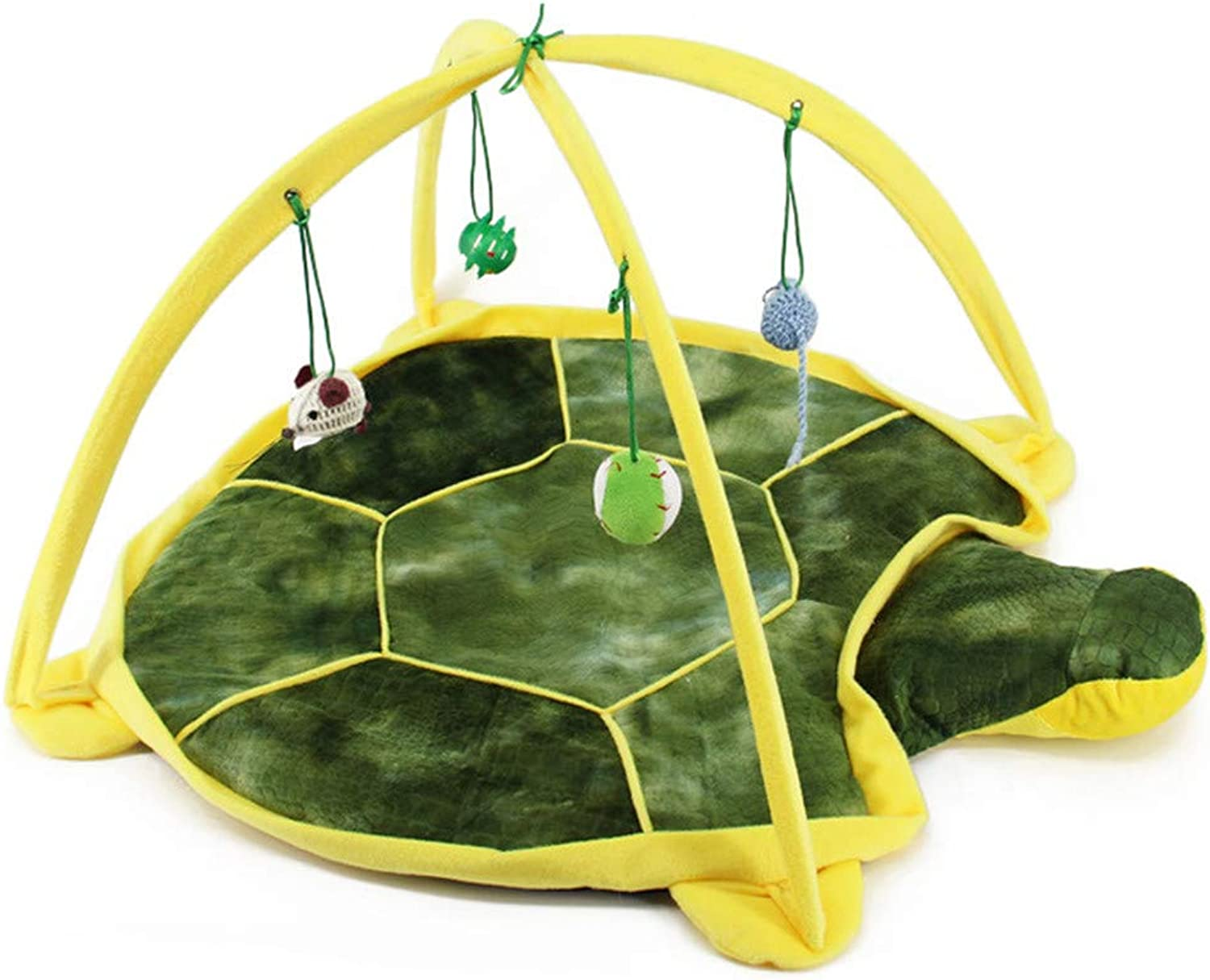 Cat Toy Pet Cat Tent Cartoon Animal Design Safety Material Collapsible Hanging Small Toy Game Bed Amusement Park Cabin Villa Exercise Game,Brown