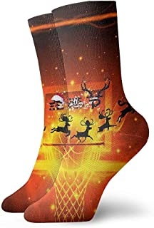 Kevin-Shop, Baloncesto Fire Hoop Board Calcetines Tobilleros navideños Calcetines Casuales y acogedores para Hombres, Mujeres, niños