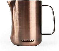 Skyfish - Jarra de espuma de leche y jarras de vapor de café de acero inoxidable 18/10 Chapado en cobre.