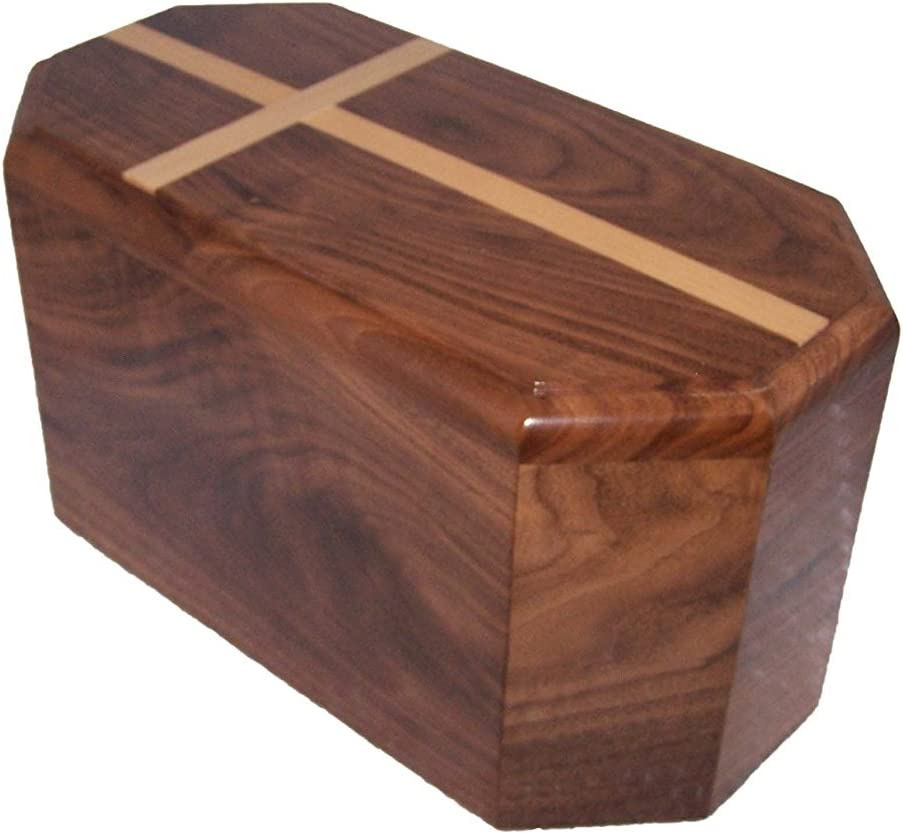 Montana Woodworks Walnut Manufacturer OFFicial shop Inexpensive Companion Cross Maple Urn