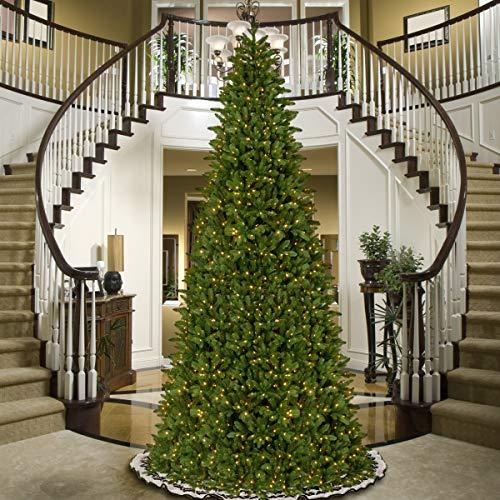 slim green pre lit Christmas trees