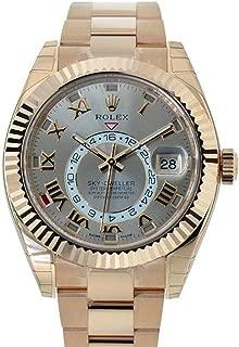 Sky-dweller 42mm Silver Roman Dial Gold Men's Watch 326938