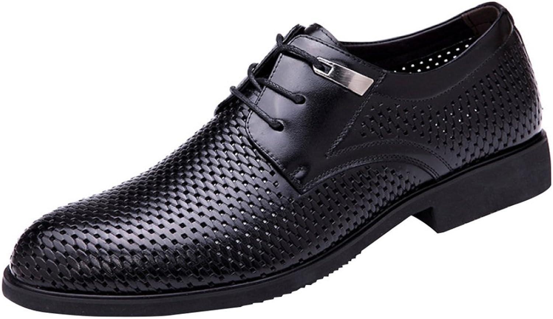 MYXUA Herren Sommer Leder Business Casual Derby Derby Derby Schuhe Hohle Spitze Mode Sandalen  840a33