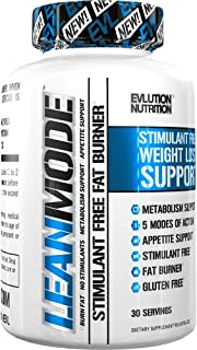 Evlution Nutrition Lean Mode Stimulant-Free Weight Loss Support, Diet System with Garcinia Cambogia, Carnitine, CLA, and Green Tea Leaf Extract (30 Servings)