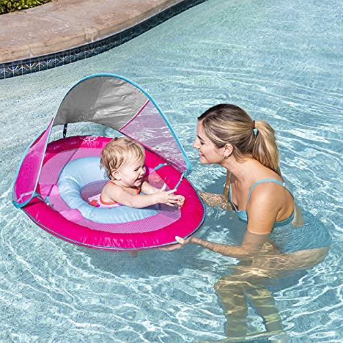 SwimWays Baby Spring Float Sun Canopy - Pink Mermaid Unicorn