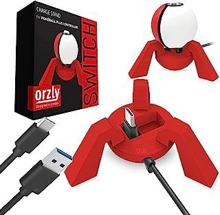 Orzly Cargador Pokeball Plus, Rojo, Base de Carga Nintendo Switch Poke Ball Plus, Estación de Carga para el Pokeball Nintendo Switch Controller, Dock Incluye Cable de Carga USB Incorporado