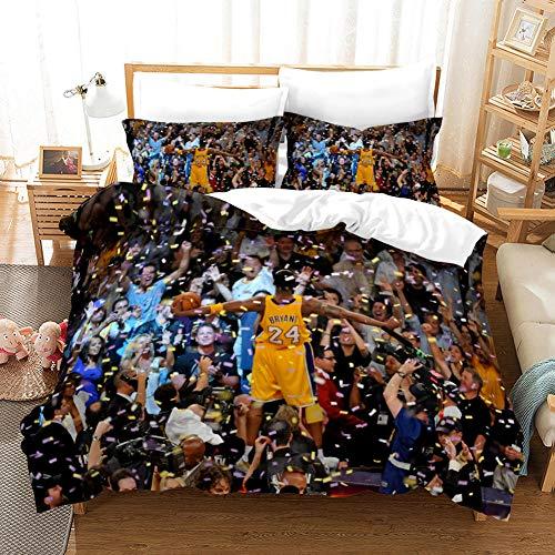 FAIEK Duvet cover Solid color bed linings basketball fan Basketball court,Super King 220X240CM