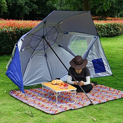 en Plein air Grand Parasol Auvent Parasol Parasol De Pêche Au Sol Plage Camping Tente Pergola Coupe-Vent Parapluie De Pluie,Vert