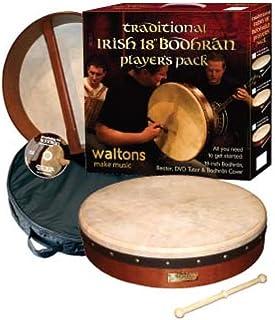 "Waltons Bodhrán 18 ""(قهوه ای استاندارد) - ساز ایرلندی دست ساز - ترد"
