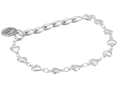 Alex and Ani Heart Beaded Stretch Bracelet (Silver) Bracelet