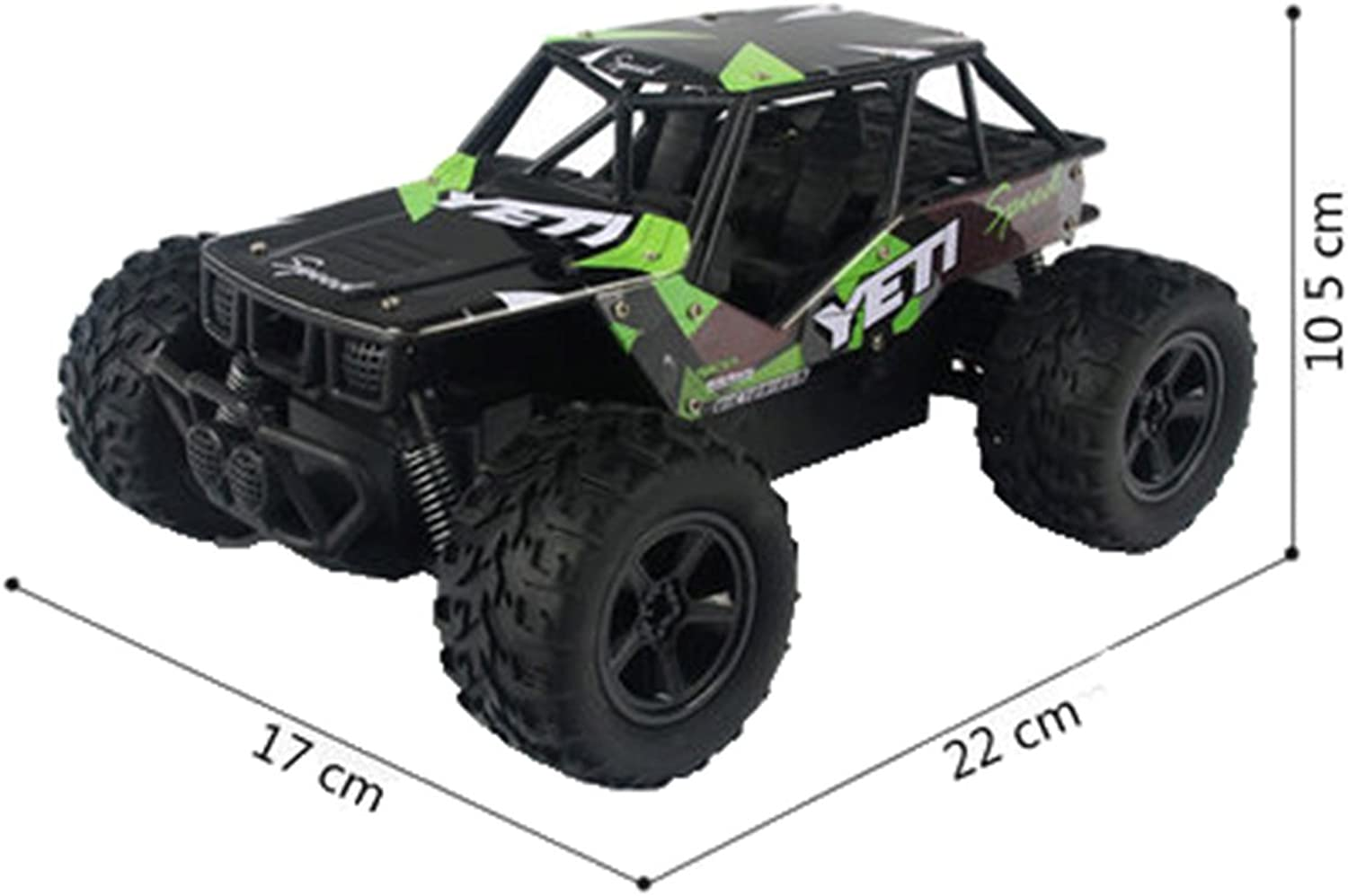 Electric RC Car Off Road Rock 2.4Ghz 4WD Vehicle Crawler Toy with Remote Control Green 21x15.5x10cm 8.27x6.11x3.94