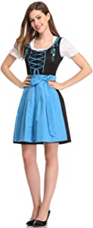 Limited Traditional Dirndl Women Dresses Blouse Apron