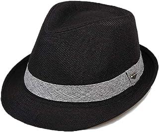Zhongyue Sombrero de verano Sombrero de paja para hombre Moda juvenil al aire libre Protección solar Sombrero para el sol Sombrero de jazz para hombre Sombrero de sol, Beige, Marrón, Negro, Gris Badmi
