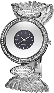 Waterproof Watch Flatware Women's Girl Lady Diamond Diamond Watch 49mm Mesh Fashion Raincoat 3ATM Student Bracelet Decoration 3ATM
