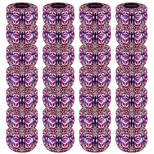 Ahyiyou DIY Candle Tins 28 Piece, Round Containers with Lids for Candle Making, Arts & Crafts, Storage & More