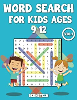 Word Search for Kids Ages 9-12: 200 Fun Word Search Puzzles for Children Ages 9, 10, 11, 12 - With Solutions - Large Print...