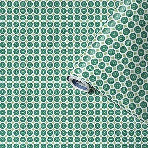 Venilia Adhesiva Motivo awale Green, Decorativa, Muebles, Papel Pintado, lámina autoadhesiva, sin ftalatos, 45 cm x 2 m, Espesor: 0,16 mm, 54783, 12