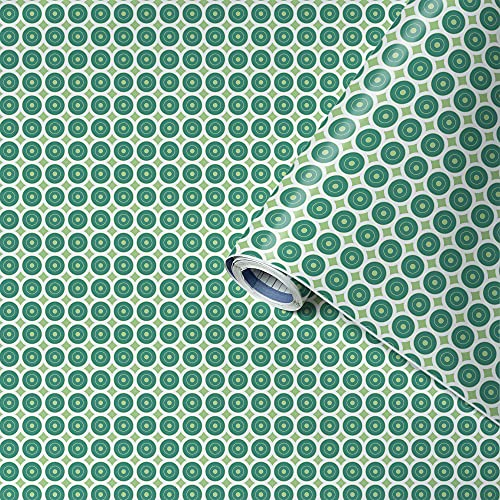 Venilia Adhesiva Motivo awale Green, Decorativa, Muebles, Papel Pintado, lámina autoadhesiva, sin ftalatos, 45 cm x 2 m,...