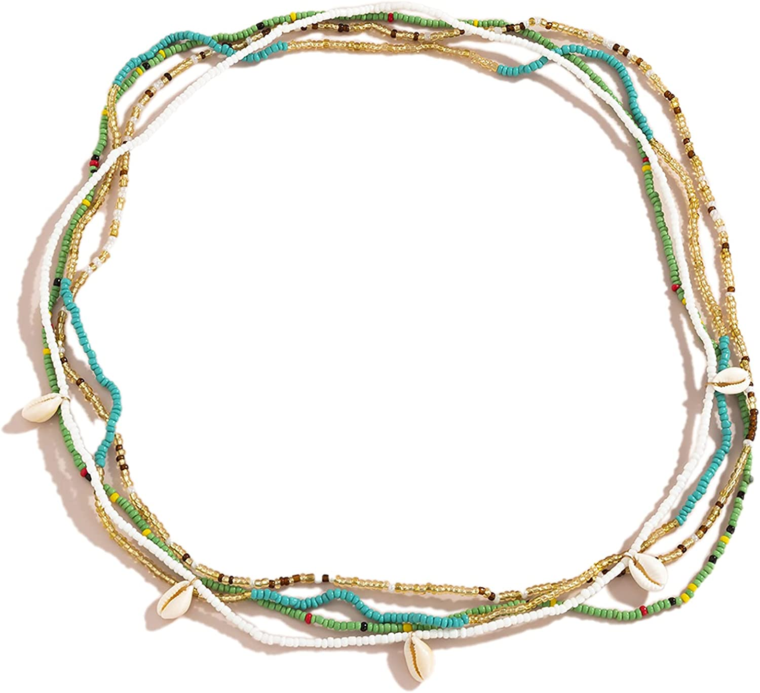 Colorful Free shipping anywhere in the nation African Waist Beaded Belly Elastic OFFicial Body Chain Set