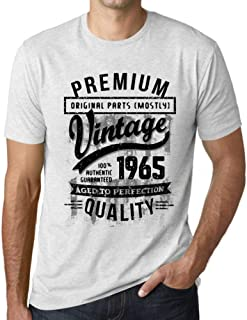 Ultrabasic - Graphic Men's 1965 Aged to Perfection Birthday Gift T-Shirt