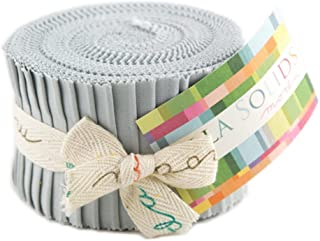 Bella Solids Zen Grey Jr Jelly Roll (9900JJR 185) by Moda House Designer for Moda