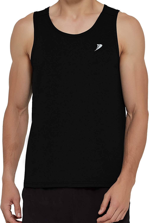 DEMOZU Mens Running Tank Top Plus Size Lightweight Quick Dry Neon Workout Athletic Tank Top