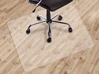 ransparent Nonslip Rectangle Floor Protector Mat for Home Office Rolling Chair Transparent 90 * 120cm