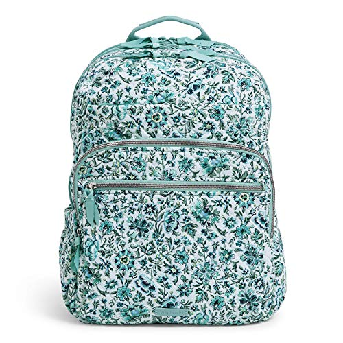 Vera Bradley Women's Iconic Signature Cotton XL Campus Backpack, Cloud Vine, One Size