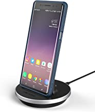 Encased USB C Phone Dock - Desktop Charging Stand with 5ft Power Cable - QuickCharge 3.0 Compatible Charger - USBC Port for Samsung, LG, Motorola and Pixel Models (Aluminum Black)