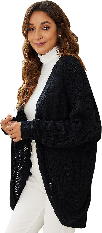 CoMokin Women's Open Front Long Sleeve