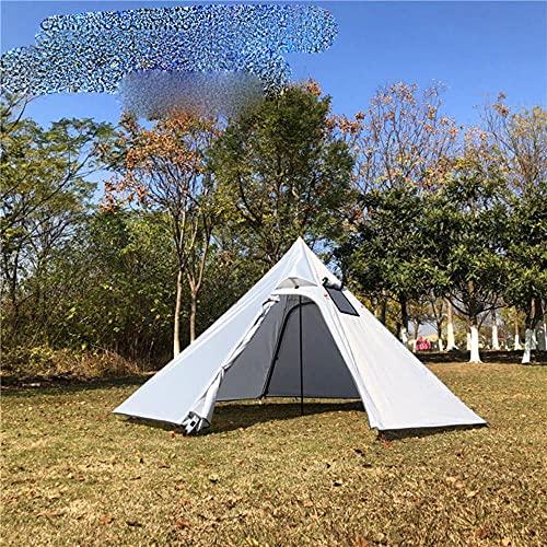 3-4Persona Gran Pirámide Tienda Ultraligero Camping Teepee Mochilero Tienda con Chimenea Agujero Toldos Refugio para Birdwatching Cocinar-Cuadrado Ventana Tipo A, China