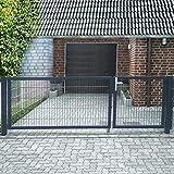 Doppelflügeltor Einfahrtstor 350cm Gartentor asymmetrisch Hoftor Anthrazit