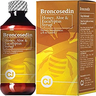 Broncosedin Bronchial Syrup Honey-Aloe-Eucalyptus | 4 fl Oz | Made in USA