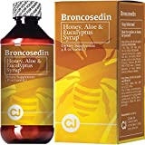 Broncosedin Bronchial Syrup Honey-Aloe-Eucalyptus | 4 fl Oz | Made in USA