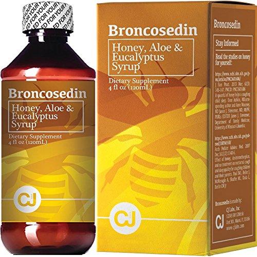Broncosedin Bronchial Syrup Honey-Aloe-Eucalyptus   4 fl Oz   Made in USA