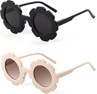 عینک آفتابی برای کودکان و نوجوانان گل گرد عینک های زیبا UV 400 محافظت از کودکان هدیه پسر بچه ها