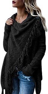 Style Dome Ponchos y Capas de Punto Para Mujer Cardigan de Punto Gran TamañO Manta Capas Bufanda Chal Invierno con Flecos ...