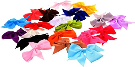 Generic Girl's Bow Ribbon (Assorted)-Pack Of 20