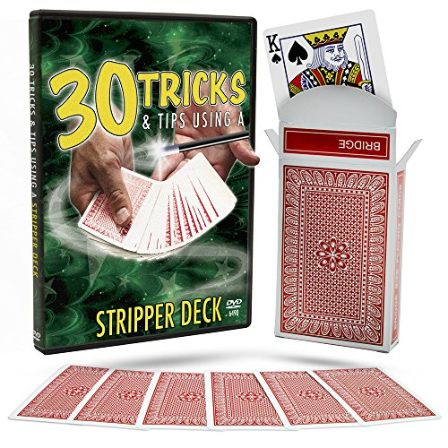Magic Makers 30 Tricks & Tips with a Stripper Deck DVD, Includes Special Tapered Deck