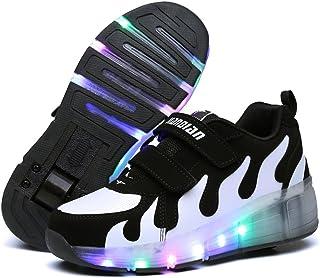 BININBOX Kids Boys Girls Roller Shoes Skate Retractable Wingle Wheel Shoes