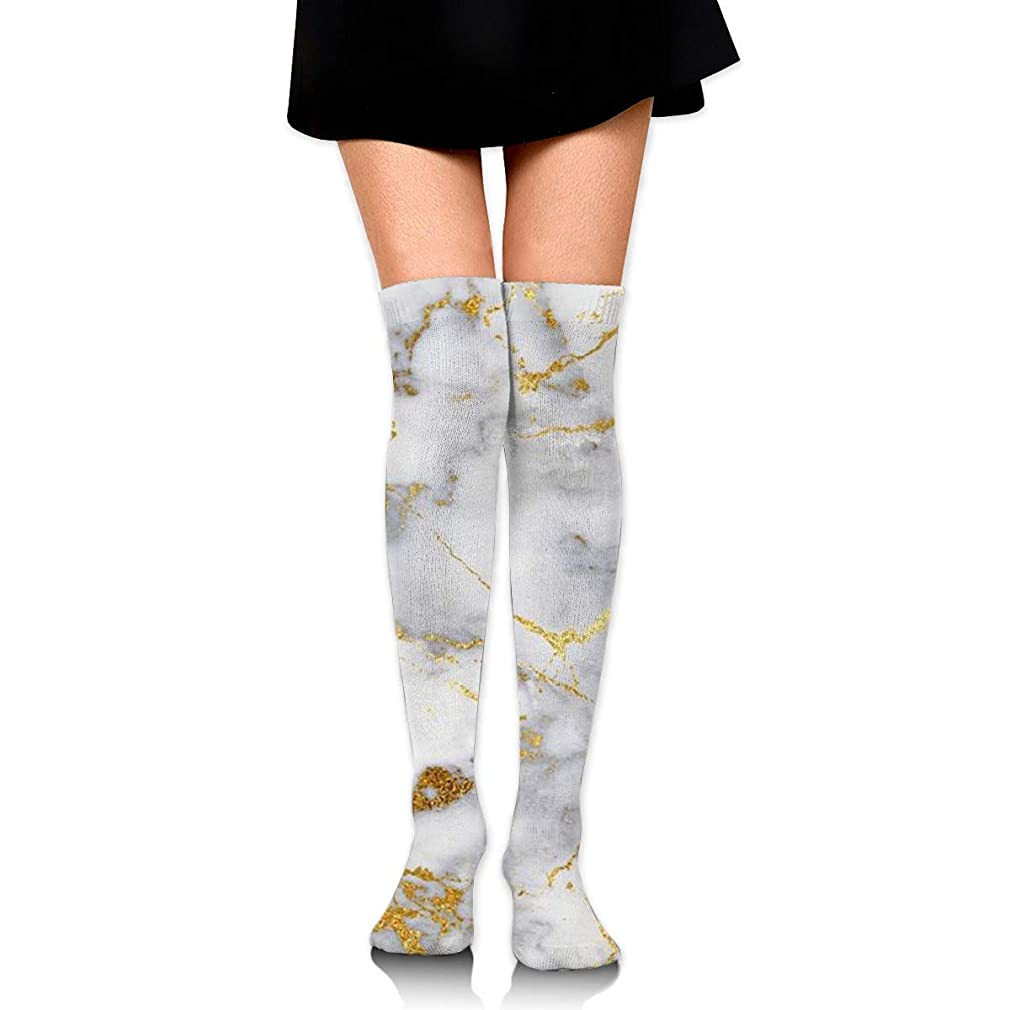 目立つ蓋フラッシュのように素早くMKLOS 通気性 圧縮ソックス Breathable Extra Long Cotton Thigh High Gold Marble Socks Over Exotic Psychedelic Print Compression High Tube Thigh Boot Stockings Knee High Women Girl