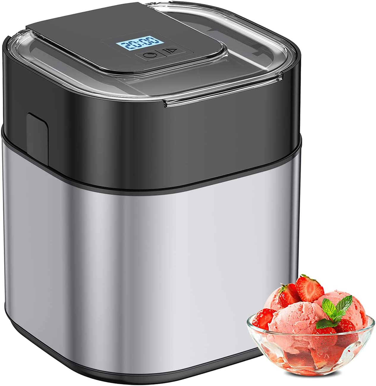 Popularity Ice Free shipping New Cream Maker Machine For Home Steel Stainless 1.5 Quart
