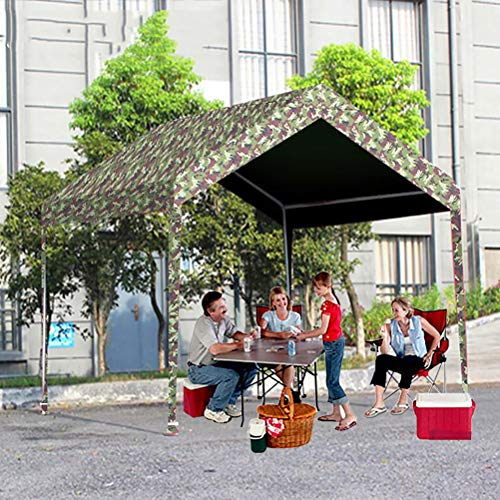 Zhyaj Pavillon Mit 3 X 3 M Grillplatz - 100% Wasserdichtes Faltzelt - Terrassen-/Gartenüberdachungen Und Pavillons,Tarnen,3x3M