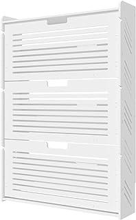 LJKD Rangement de Chaussures Blanc Organisateur d'étagère à Chaussures 3 Portes casier, Meubles de Plancher de Couloir, Sa...