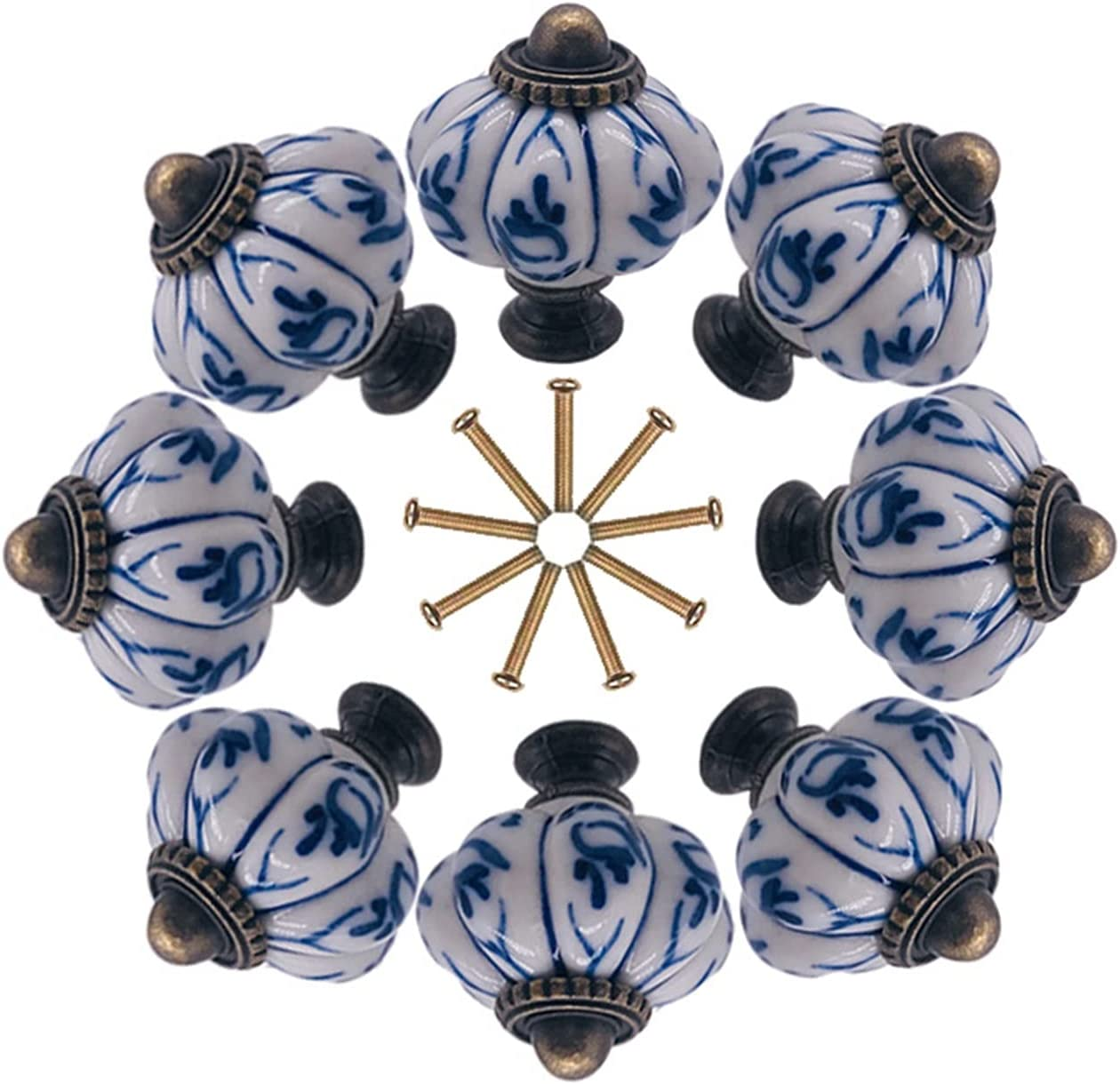 AILIUQIAN 8X All items free shipping 34mm Chinese Ceramic Drawer Cabinet Knobs Brand Cheap Sale Venue Handl and