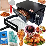 Bright Berg Electric Tandoor for Home with Automatic Timer & Heat Controller Pizza Maker Fish Chicken Tikka Naan Roti Cake Baker French Fries Meat Barbeque Oil Free Fryer